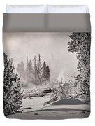 Winter Thermal Steam - Yellowstone Duvet Cover