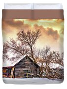 Winter Thoughts 2 - Paint Duvet Cover