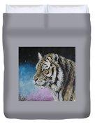 Winter Tiger Duvet Cover