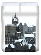 Winter Townscape Scotland Duvet Cover