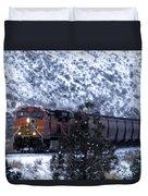 Winter Train Duvet Cover