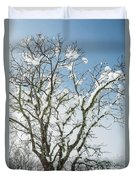 Winter Tree At Berry Summit Duvet Cover