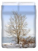 Winter Tree On Shore Duvet Cover