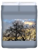 Winter Trees At Sunset Duvet Cover