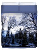 Winter Trees In Sweden Duvet Cover