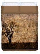 Winter Trees In The Bottomland 1 Duvet Cover