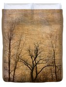 Winter Trees In The Bottomlands 2 Duvet Cover