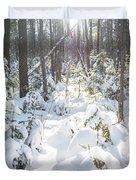 Winter Under The Sun Duvet Cover