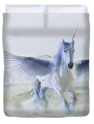 Winter Unicorn Duvet Cover