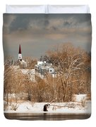 Winter View Of Allenstown Duvet Cover