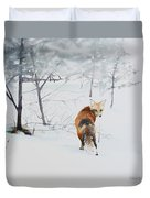Winter Visitor Duvet Cover