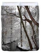 Winter Walk In The Woods Duvet Cover