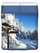 winter way in the Upper Harz Duvet Cover