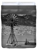 Winter Windmill Duvet Cover
