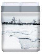 Winter Wonderland Bw Duvet Cover