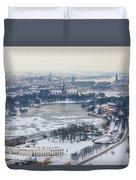 Winter Wonderland In Stockholm Duvet Cover