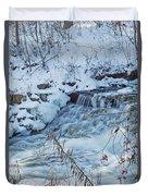Winter Wonderland Of Minnehaha Falls  Duvet Cover