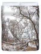 Winter Woods On A Stormy Day 2 Duvet Cover