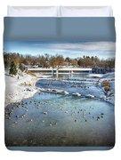 Wintering Geese Duvet Cover