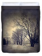 Winter's Dark Thoughts Duvet Cover