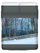 Winters Day - Pisgah Forest Nc Duvet Cover