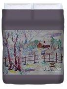 Winter's Joys Duvet Cover
