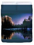 Winters Lake Duvet Cover