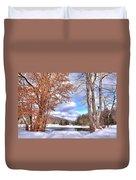 Winters Window Duvet Cover