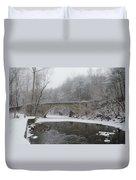 Wintertime In The Wissahickon Valley Duvet Cover