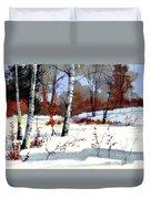 Wintertime Painting Duvet Cover