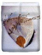 Wintery Still Life Duvet Cover