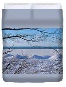 Wintry Lakeshore Duvet Cover