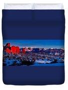 Wintry Sunset Glow  Duvet Cover