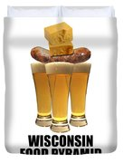 Wisconsin Food Pyramid Duvet Cover