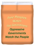 Wise Sayings About Government 5004.02 Duvet Cover
