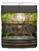 Wisteria Blooming On Trellis At Garden Patio Duvet Cover