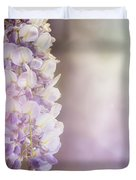 Wisteria Flowers In Sunlight Duvet Cover