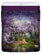 Wisteria Lake Duvet Cover by Carol Cavalaris