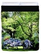 Wisteria On Lawn Duvet Cover