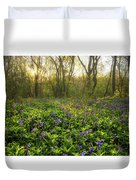 Wistow Wood Bluebells 1 Duvet Cover
