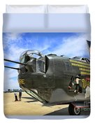 Witchcraft Wwii Bomber Duvet Cover