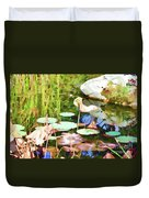 Withered Lotus In The Pond 2 Duvet Cover