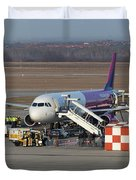 Wizz Air Jet And Fire Brigade   Duvet Cover