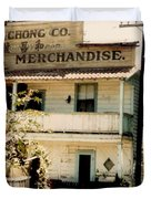 Wo Chong General Store Courtland Ca Duvet Cover