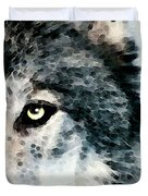 Wolf Art - Timber Duvet Cover