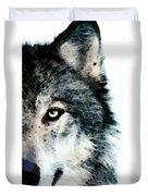 Wolf Art - Timber Duvet Cover by Sharon Cummings