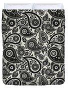 Wolf Gray Paisley Design Duvet Cover