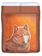 Wolf Home Burning Duvet Cover