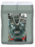 Wolf Motorcycle Gas Tank Duvet Cover
