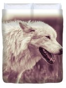 Wolf Of Yellowstone National Park Duvet Cover